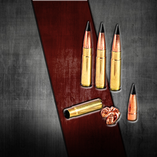 Barnes black tipped TAC TSX, solid copper bullet was designed specifically for the 300 Black Out....